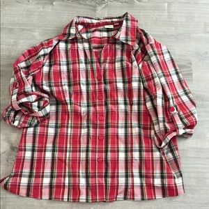 Plaid button up size 22/24